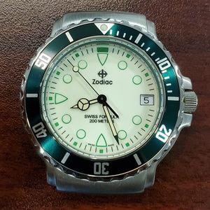 Zodiac Vintage Luminous Dial 36mm Divers Watch
